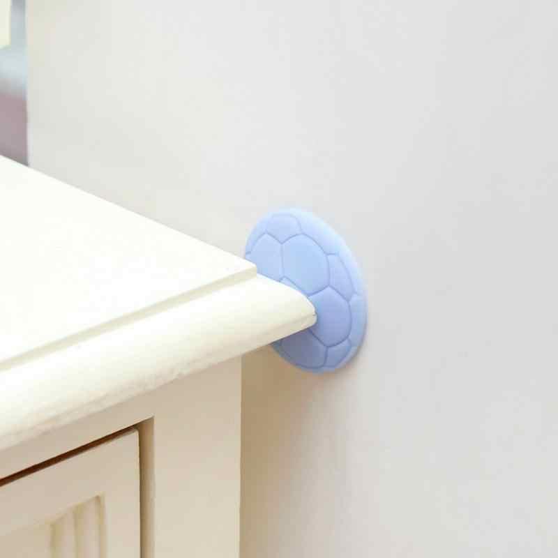 1 adet duvar kalınlaşma dilsiz kapı çamurluklar kauçuk çamurluk kolu kapı kilidi koruyucu ped koruma ev duvar Sticker