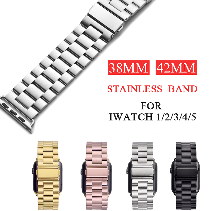 XIYUZHIYI Stainless Steel Strap For Apple Strap 38mm 42mm Metal Link Bracelet Apple Watch Strap For Apple Watch Series 1 2 3 4