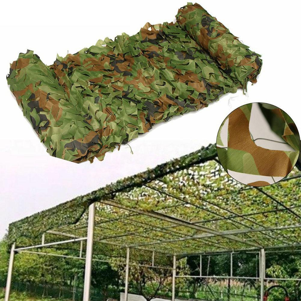 Woodland Reinforced Camouflage Net Military Hunting Jungle For Pergola Gazebo Mesh Hide Garden Shade Outdoor Awning Cover