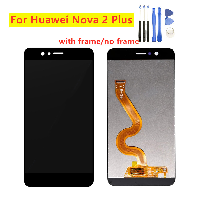 For Huawei Nova 2 Plus 2+ BAC-L21 L23 L03 BAC-L01 LCD Display Touch Screen Digitizer Screen With Frame For Huawei P10 Selfie LCD