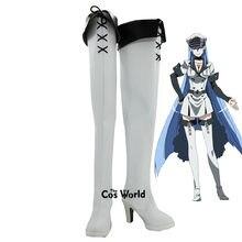 Akame ga matar! Esdese esdeath anime personalizar cosplay sapatos de salto alto botas