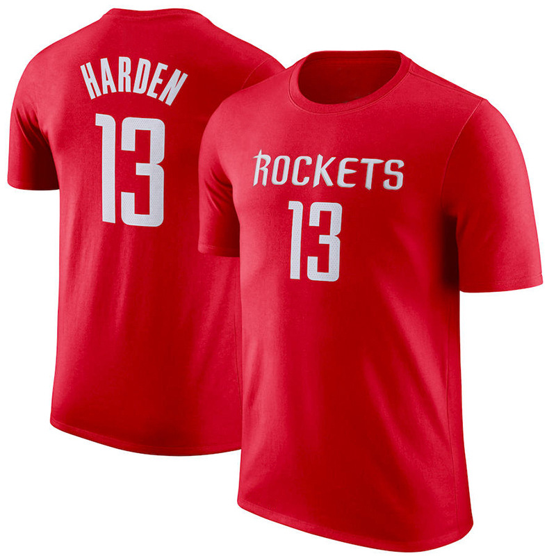 NBA Rockets Harden/Polo T-shirt Casual Loose Short Sleeve Support Basketball Union All Team Supply of Goods image