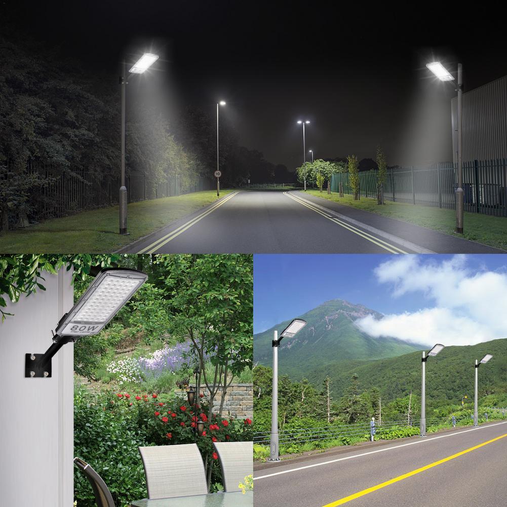 Réverbère 80W avec tige 220V blanc froid lampe à LED