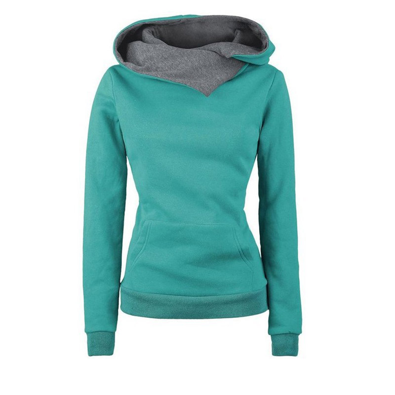 New Women Sweatshirt Solid Color Harajuku Hooded Casual Fashion Pullover Long Sleeve Tops Autumn Winter Ladies Hoodies in Hoodies amp Sweatshirts from Women 39 s Clothing