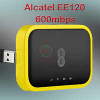 Unlocked Alcatel EE120 Portable 4300mAh Battery usb power bank wifi router 4g Cat12 600Mbps 4g lte pocket wifi router sim card