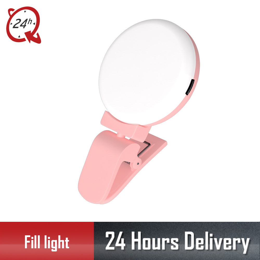 Portable LED Selfie Light Ring Flash Lumiere USB LED Mobile Phone Light Clip Lamp Ring For iPhone Samsung Xiaomi Night Lighting