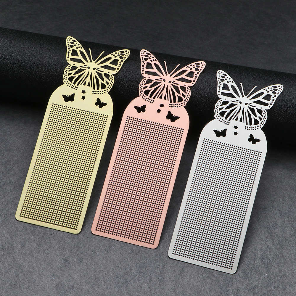 Cute Butterfly Owl DIY Craft Cross Stitch Bookmark Metal Silver Golden Needlework Embroidery Crafts Counted Cross-Stitching Kit