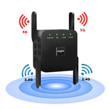 Kuwfi Draadloze Wifi Repeater Wifi Extender 2.4G 5G Router Wi-fi Versterker 5Ghz Signaal Repeater Toegang punt Dual Band