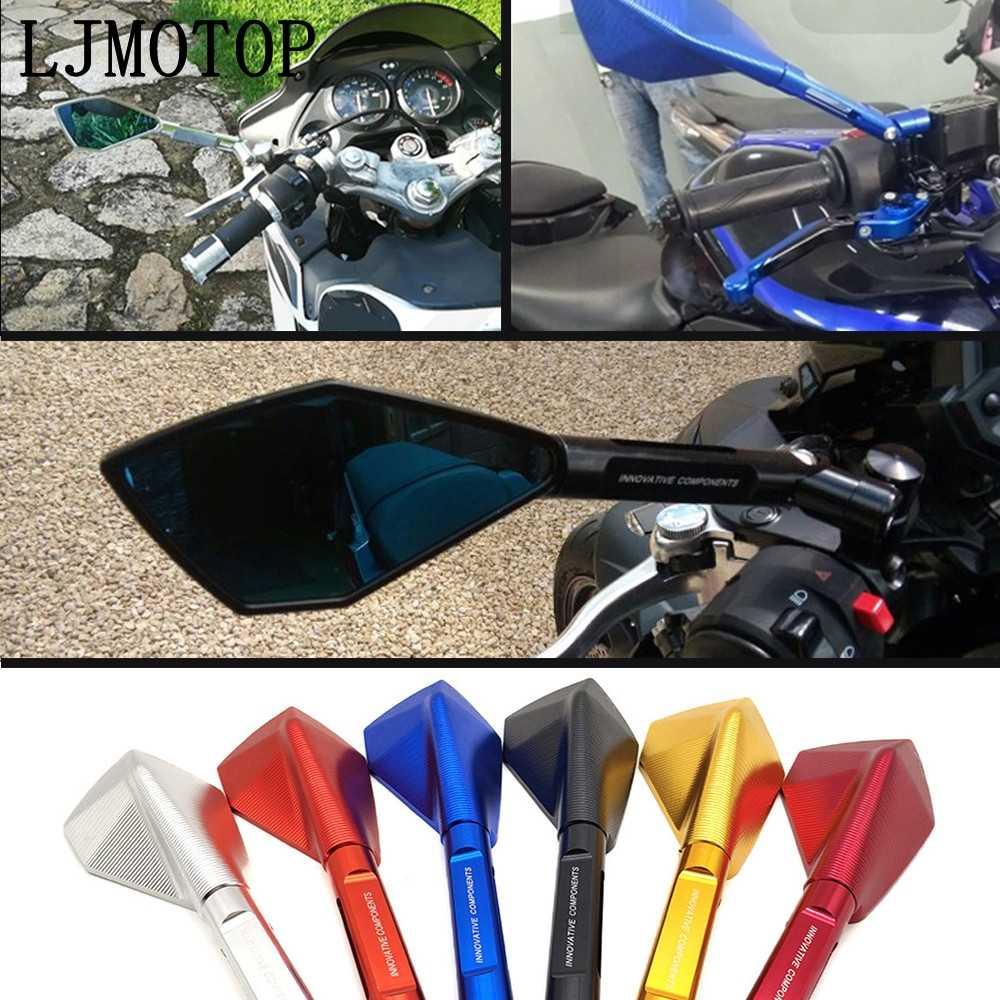 オートバイモトサイドバック MirrorsCNC アルミホンダ VFR800 CBR125R ST1300/ST1300A モデル pcx 125/150