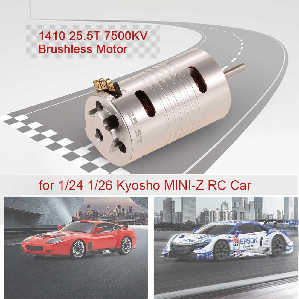 Motor sin escobillas de SUPERPASS HOBBY 1410 de 25,5 T de 7500KV Motor sin escobillas para 1/24 de 1/26 Kyosho MINI-Z RC Motor de coche