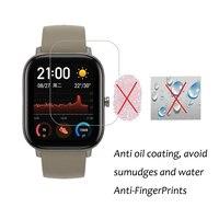 Película protectora para reloj inteligente Amazfit GTS, Protector de pantalla completa de hidrogel, no cristal templado, 3 uds., 0,15mm