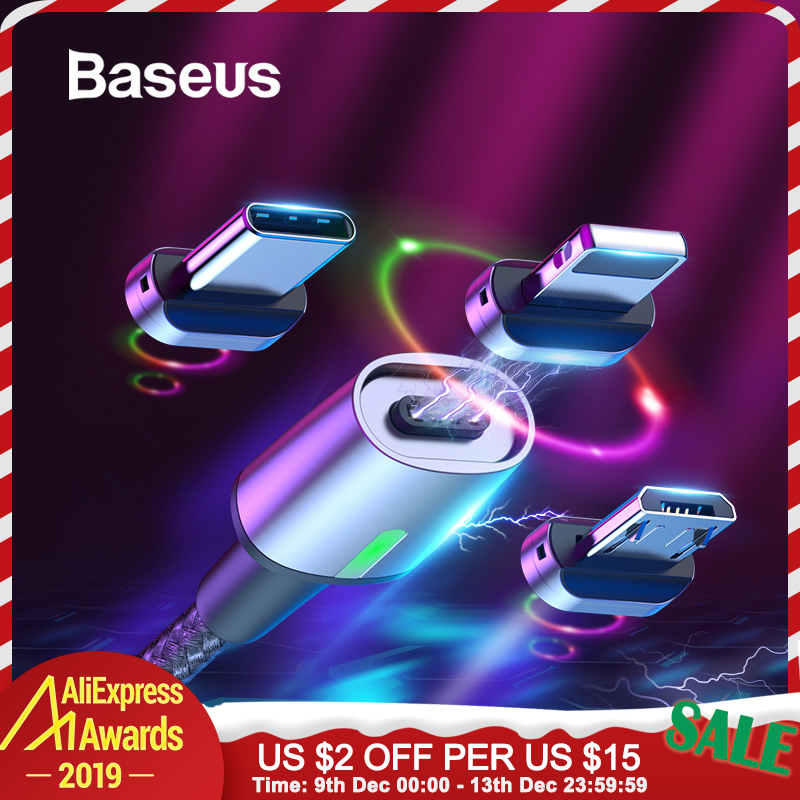Baseus Micro USB Magnetic Cable Type C Cable for Samsung s9 iPhone Xr Charge USB Magnet Cable Adapter Mobile Phone USB Wire Cord-in Mobile Phone Cables from Cellphones & Telecommunications on AliExpress