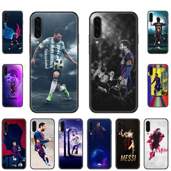 Football 10 Leo Messi Phone case For Samsung Galaxy A 3 5 8 9 10 20 30 40 50 70 E S Plus 2016 2017 2018 2019 black trend funda image