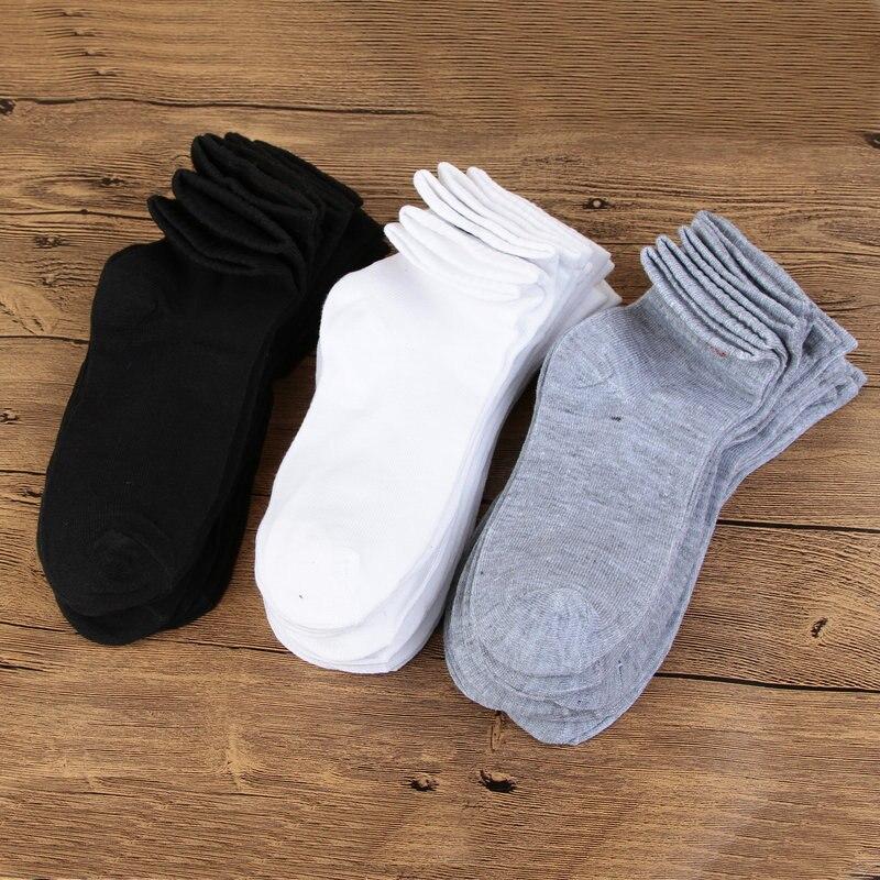 2020 Men Socks Fashions Comfortable Breathable Solid Mens Spring Autumn Ankle White Socks Mens Socks Novelty Gift For Men