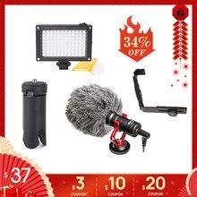DJI Osmo Mobile 3 2 Video Setup Mikrofon L Halterung LED video licht, mic Stand für Osmo Mobile 3 Glatte 4 Vimble 2 Gimbal
