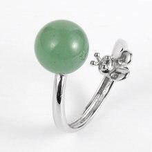 Женское кольцо из натурального камня зеленое танглина лазурит