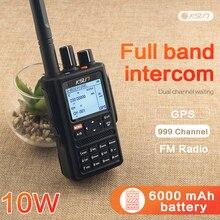 KSUN Walkie Talkie 10W Alta Potência Tela Cheia Ao Ar Livre Tela Multifuncional Dupla Cor Segmento Segmento de Posicionamento GPS Handheld