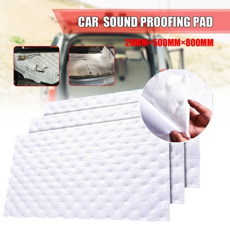 1 pieza a prueba de sonido deadener coche Auto 20mm aislamiento de ruido espuma de célula blanca