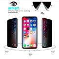 Защитная Антибликовая конфиденциальности 11D закаленное Стекло для iPhone X XR XS 6 7 8 против подсматривания небьющиеся линзы с уровнем твердости ...