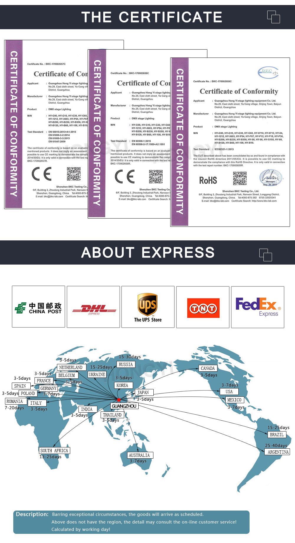 China led moving Suppliers