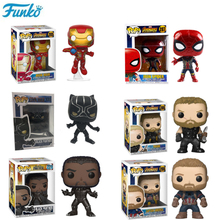 Funko POP Marvel The Avengers Ironman Spiderman PVC Action Figures Collection Model Kids Toys for Birthday Gifts 2F21 alen black widow 27cm 1pcs pvc figures play arts kai the avenger marvel action anime figures kids gifts toys