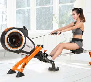 Rowing-Machine Fitness-Equipment Folding Mute Wind-Resistance Slimming Tummy Home