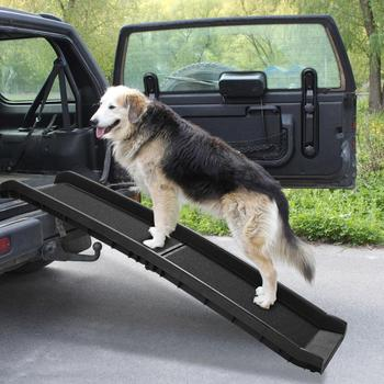 Pet Ramp Portable Foldable Dog Cat Ladder Lightweight Pet Ramps Non-skid Traction Surface Raised Side For Car Truck AKC6403