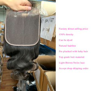 Image 5 - 7x7 Körper Welle Spitze Verschluss 150 Dichte Pre Gezupft Mit Baby Haar Natürlichen Haaransatz Queenlike Brasilianische Remy Haar 7x7 Verschluss