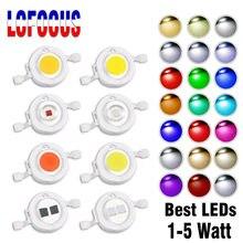 Wysokiej jasności LED COB Chip 1W 3 W 5W ciepły naturalny zimny biały 660nm 440nm czerwony zielony niebieski pełne spektrum 1 3 W wat dla żarówki