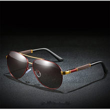 Xiasent new metal mens polarized sunglasses classic two-color gradient lens spring legs frog mirror driving UV400 Gafas