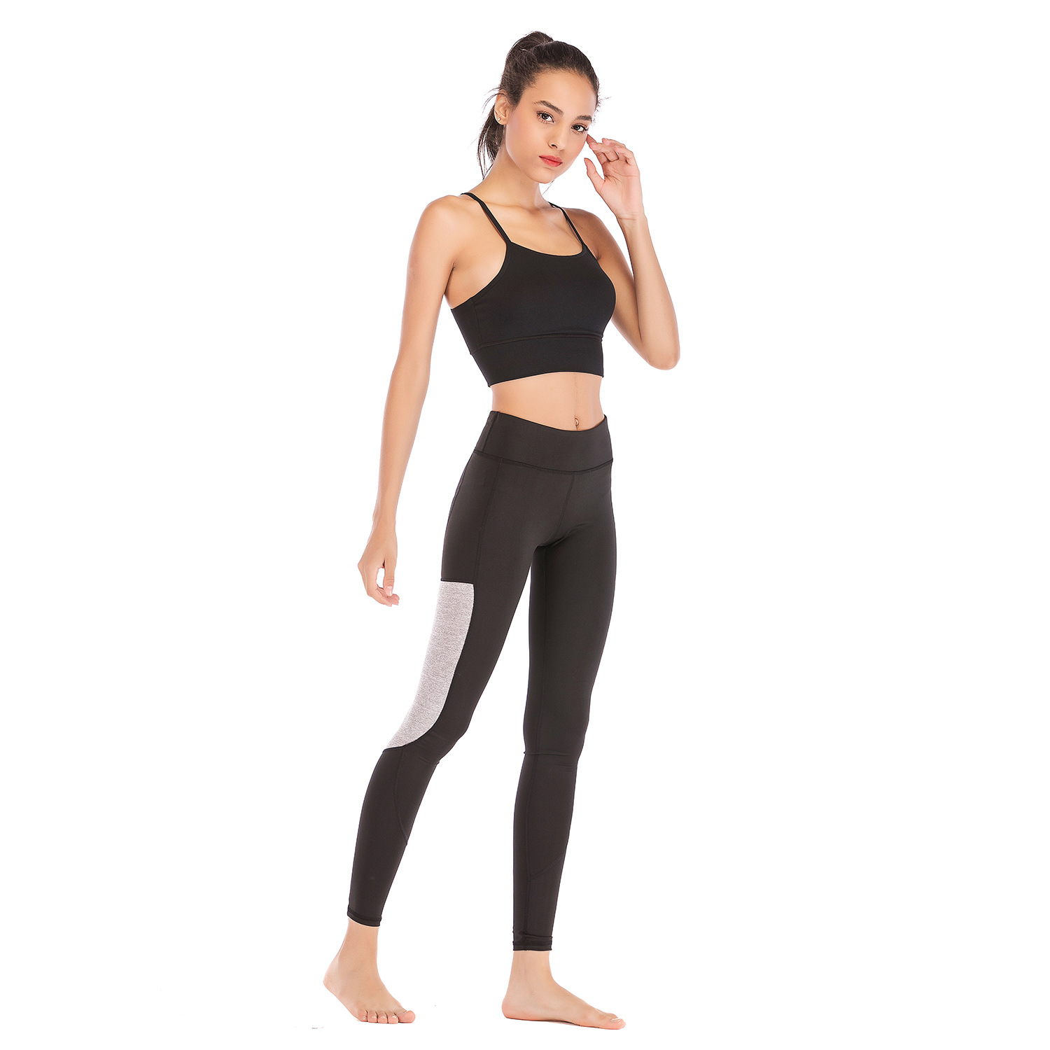 Cobb & Co Mann Women's Clothing Sports Pants Stretch Quick-Dry Workout Clothes Tight High-waisted Skinny Ankle-length Pants