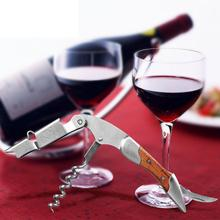 Professional Stainless Steel Wood Wine Opener Waiters Corkscrew Cutter Bar Tool hot sales