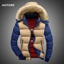 Jaqueta masculina para baixo inverno novo masculino casual com capuz outwears casaco de pele quente parka casaco masculino sólido grosso velo zíper jaquetas 2020