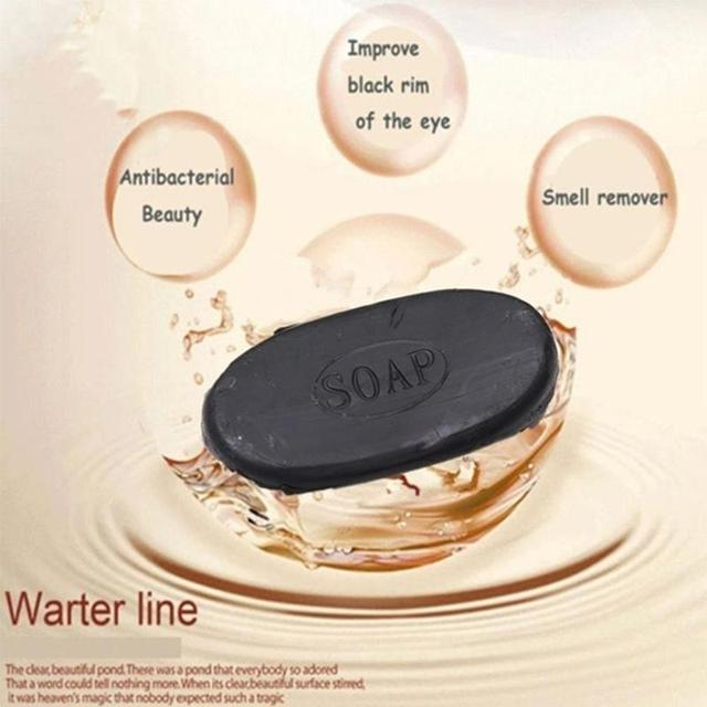 1 pcs Active Energy Bamboo Tourmaline Soap For Lady Female Women Face Hand Body Healthy Care 1