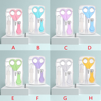 2020 Multicolor Baby Care Baby Nail Clipper Set Of 4 Baby Safety Nail Clippers Baby Nail File Combination Set