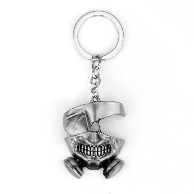 Anime Tokyo Ghoul masque collier Tokyo Gourmet porte-clés pendentif adulte Applicable cadeau horreur casse-cou glisser noeud masque cosplay