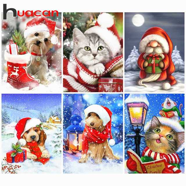Cat Mosaic Diamond Painting Resins Christmas DIY Home Wall Embroidery Decoration