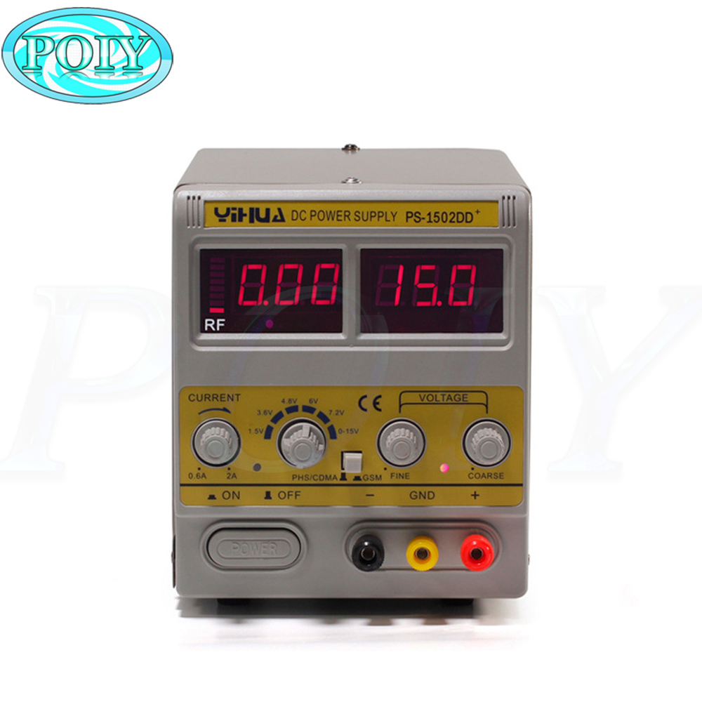 Newest YIHUA 1502DD+ For Mobile Phone15V 2A Adjustable Regulated DC Power Supply With LED Display