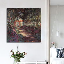 Claude Monet Garden HD Canvas Painting Print Living Room Home Decoration Modern Wall Art Oil Painting Posters Picture Artwork HD claude monet in summer canvas painting prints living room home decoration modern wall art oil painting posters pictures artwork