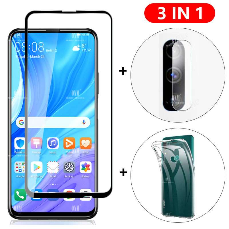 3-in-1 Glass + Case For Huawei Y9S Y8P Y8S Y7P Y6P Y6S Y5P 2020 Screen Protector Tempered Glass for Y9 Y7 Y6 Y5 Pro Prime 2019(China)