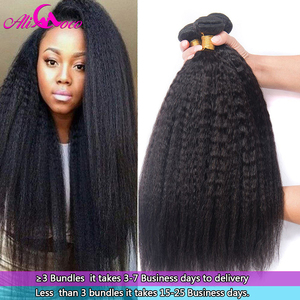 Ali Coco Peruvian Kinky Straight Hair Bundles 1/3/4 Bundles 8-28 Inch 100% Human Hair Extensions No Remy Hair Free Shipping