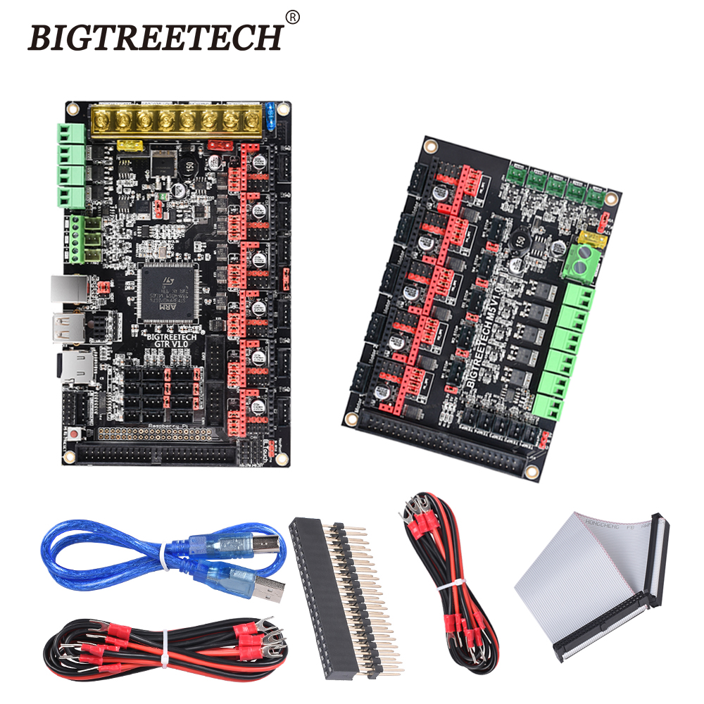 BIGTREETECH GTR V1.0 Control Board 32Bit Motherboard With M5 Expansion Board TMC2209 TMC2208 11 Motor Driver For 3D Printer