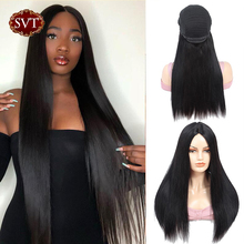 Straight Lace Front Wig SVT Indian Human Hair Wigs