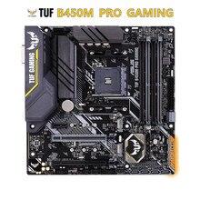 ASUS TUF B450M PRO oyun anakart AMD B450 DDR4 M.2 DVI-D USB 3.1 desteği R3 R5 R7 R9 masaüstü AM4 CPU