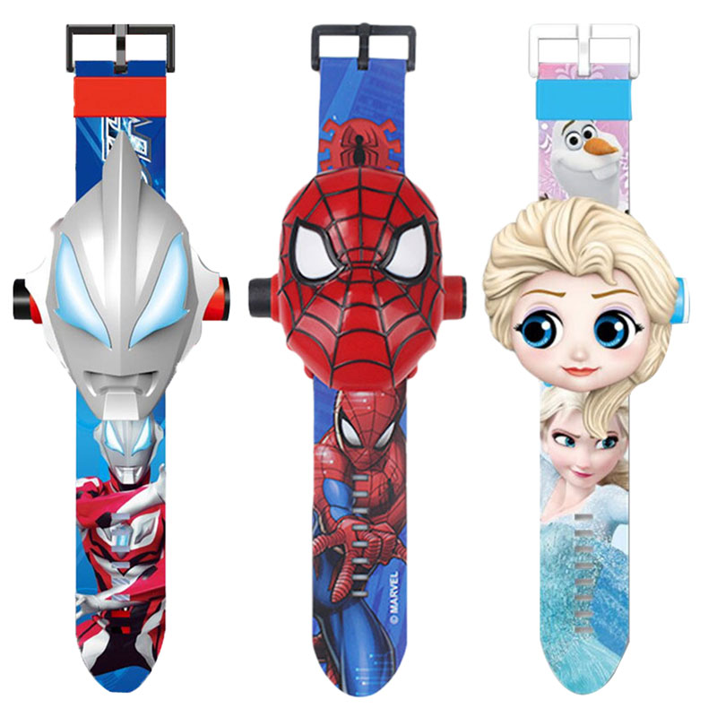 2020 New Fashion Spiderman Ironman Captain America  Electronic Students Table Toys For Children Watch Toys Kids Watch