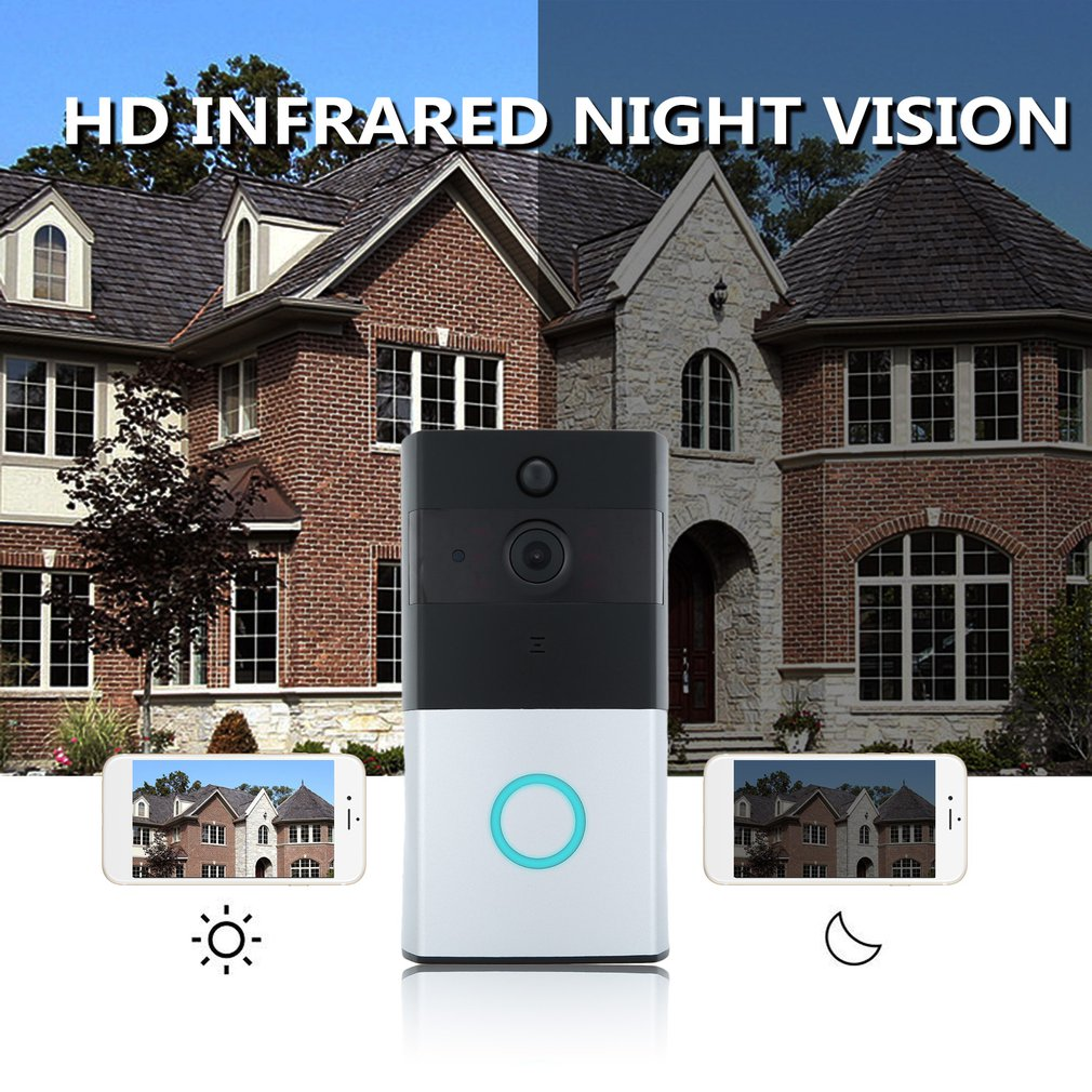 WF06 Home Smart Wireless WIFI Doorbell Low Power Consumption Waterproof Visual Camera Doorbell Fit For Home Security