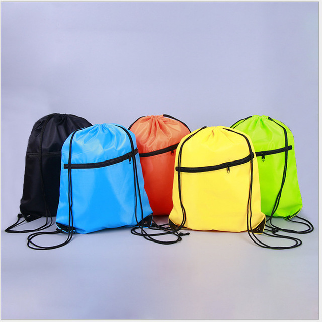 5 Colors Portable Waterproof Nylon Shoe Bags Drawstring Dust Backpacks Storage Pouch Outdoor Travel Sports Storage Gym Bags