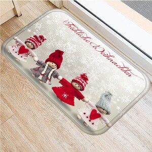 Image 4 - クリスマスカーペットサンタフランネルカーペットカーペットキッチンマット家の装飾さまざまなスタイルクリスマスフロアマット 40 × 60 センチメートル..