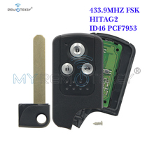 Remtekey 3 button 434Mhz auto Smart key for Honda  Accord Spirior Crosstour