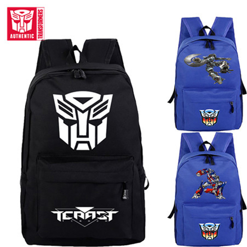 TRANSFORMERS Children's Backpack Men And Women Cartoon Pattern Kids SchoolBag Pupils Kindergarten Waterproof Large Capacity Bag